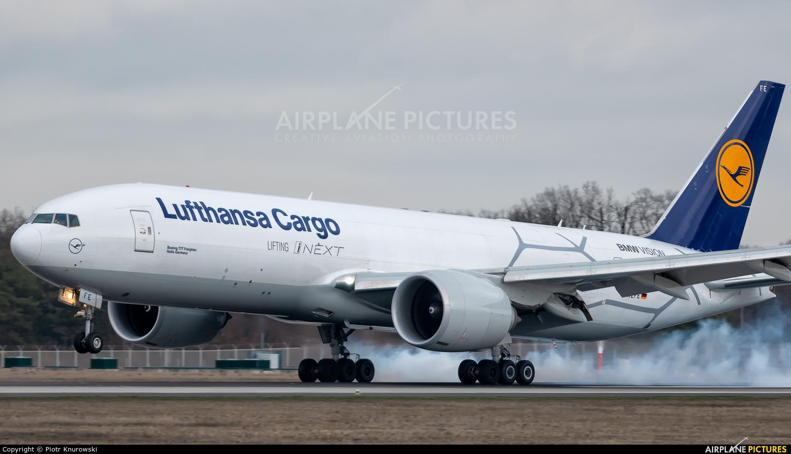 Lufthansa Cargo D-ALFE aircraft at Frankfurt
