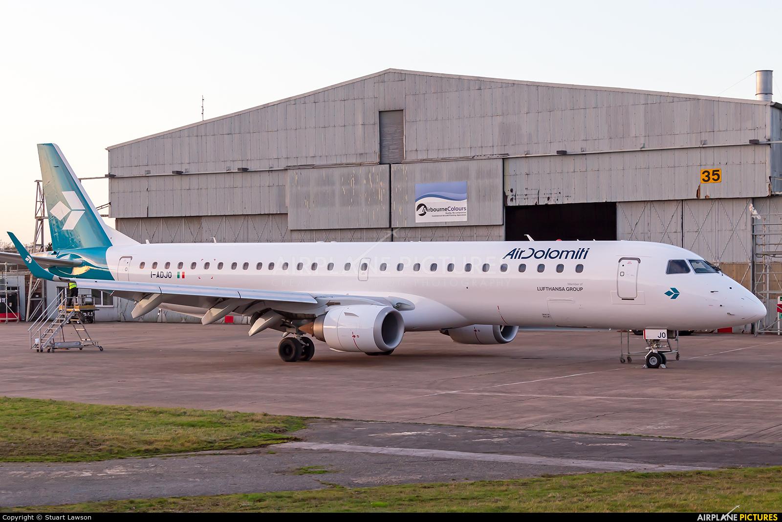 Air Dolomiti I-ADJO aircraft at East Midlands