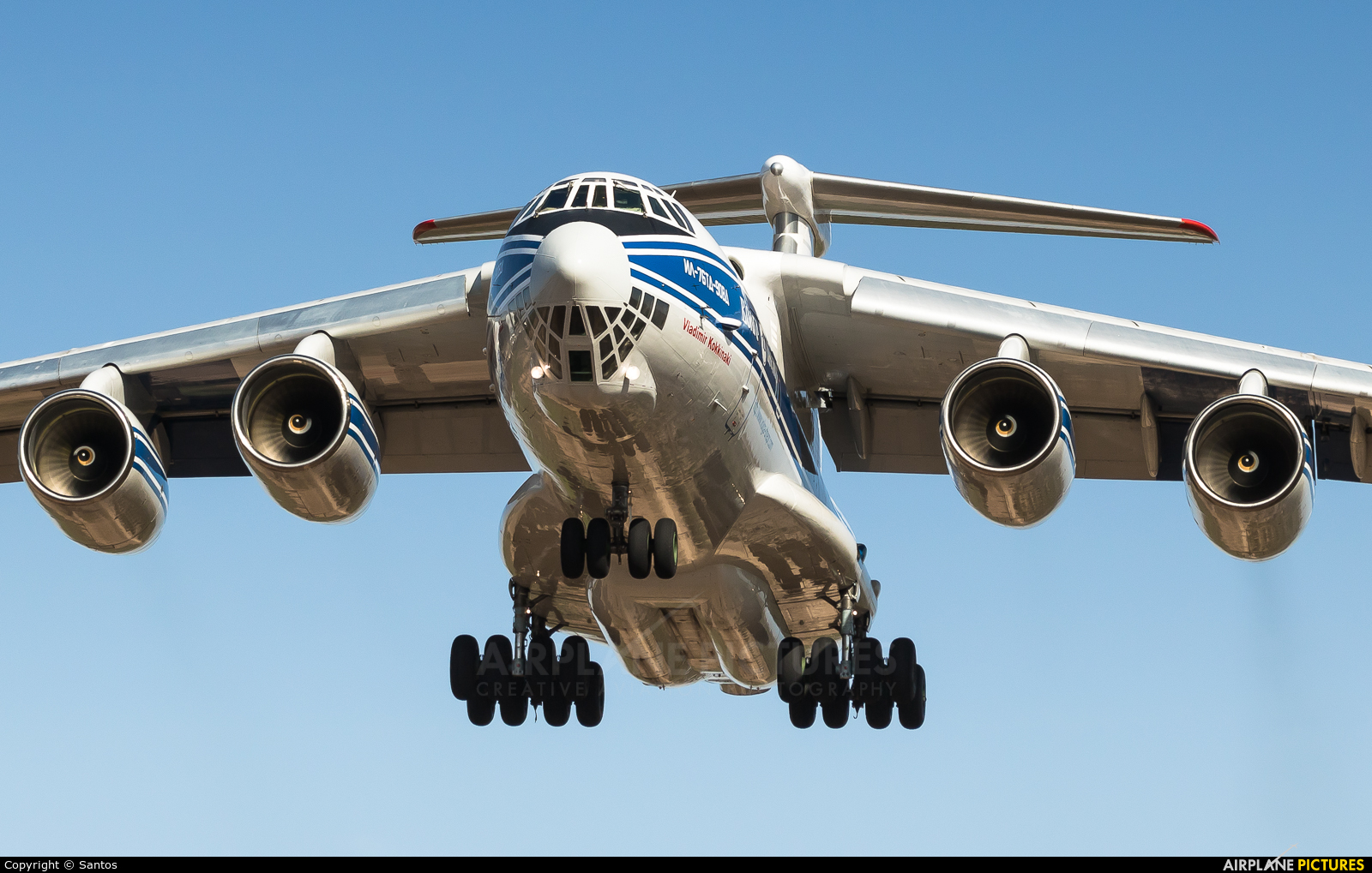 Volga Dnepr Airlines RA-76950 aircraft at Seville - San Pablo