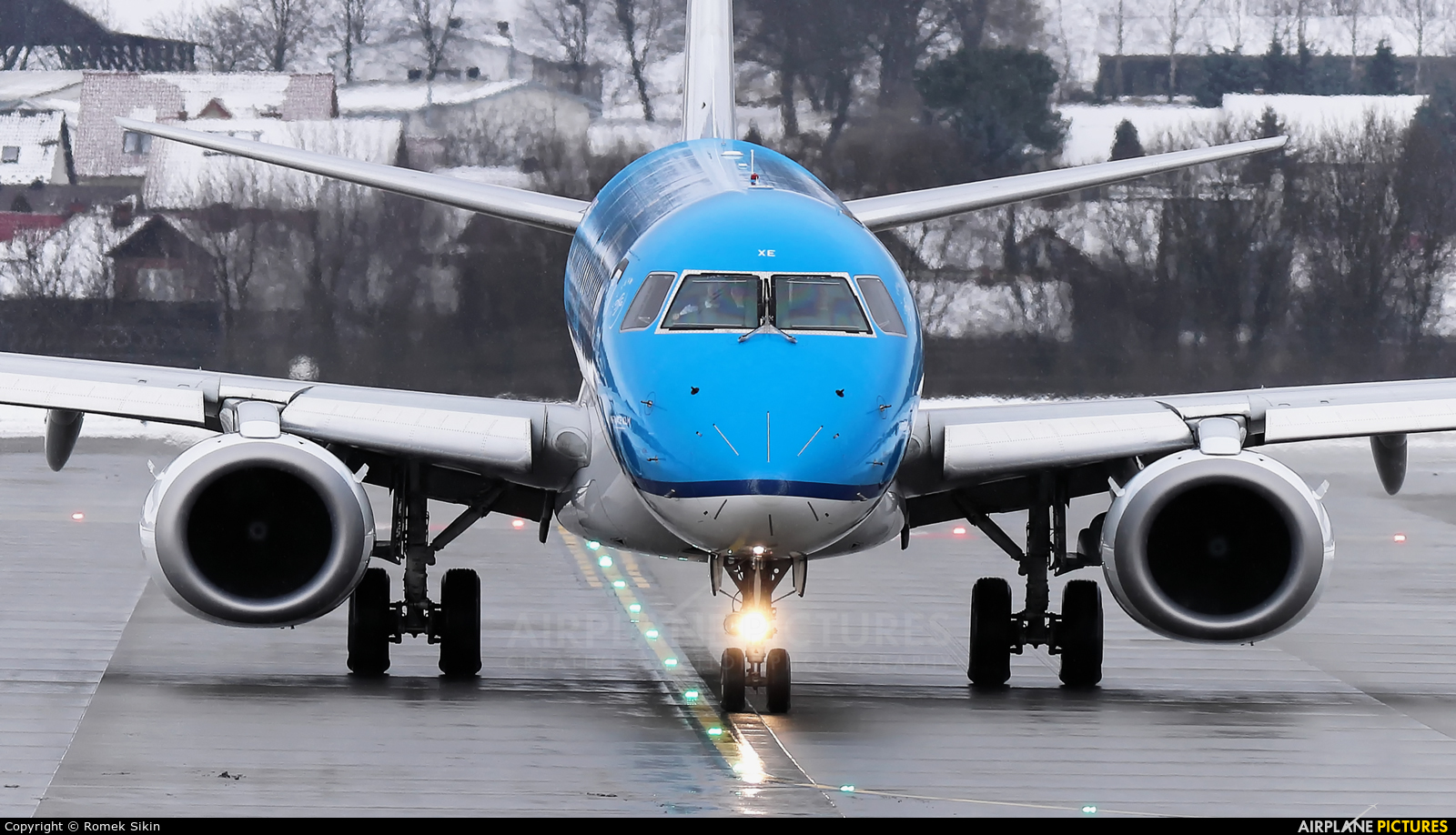 KLM Cityhopper PH-EXE aircraft at Kraków - John Paul II Intl