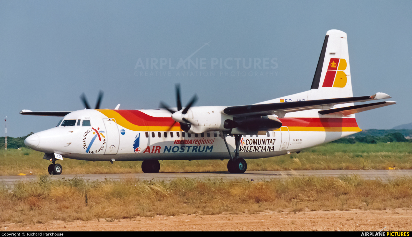 Air Nostrum - Iberia Regional EC-IAD aircraft at Menorca