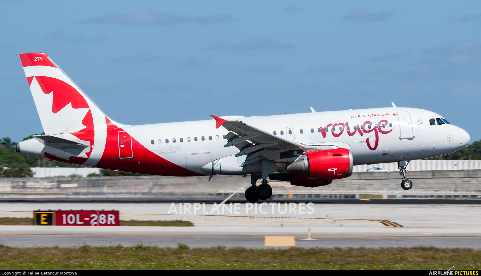Air Canada Rouge C-GBHZ aircraft at Fort Lauderdale - Hollywood Intl
