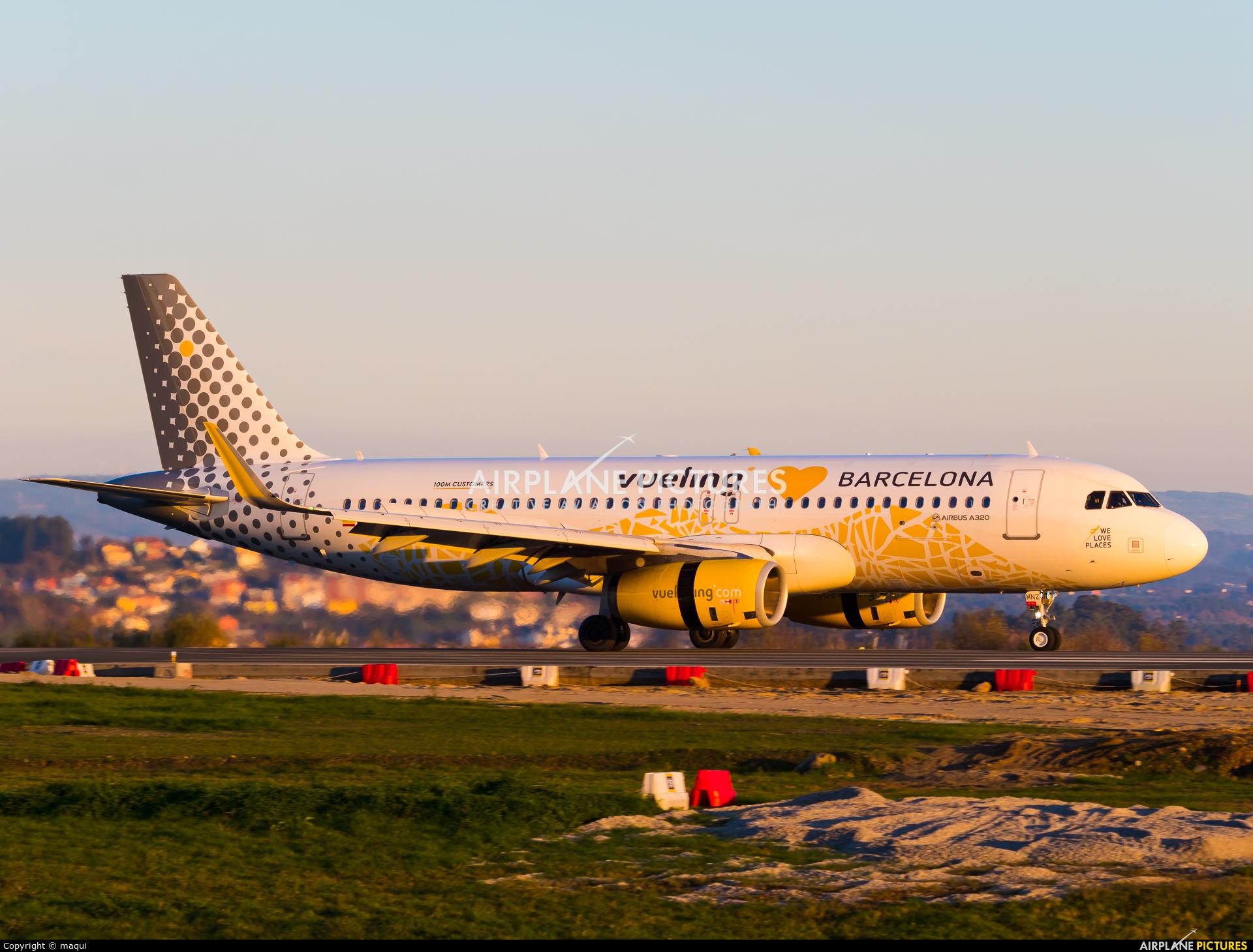 Vueling Airlines EC-MNZ aircraft at La Coruña