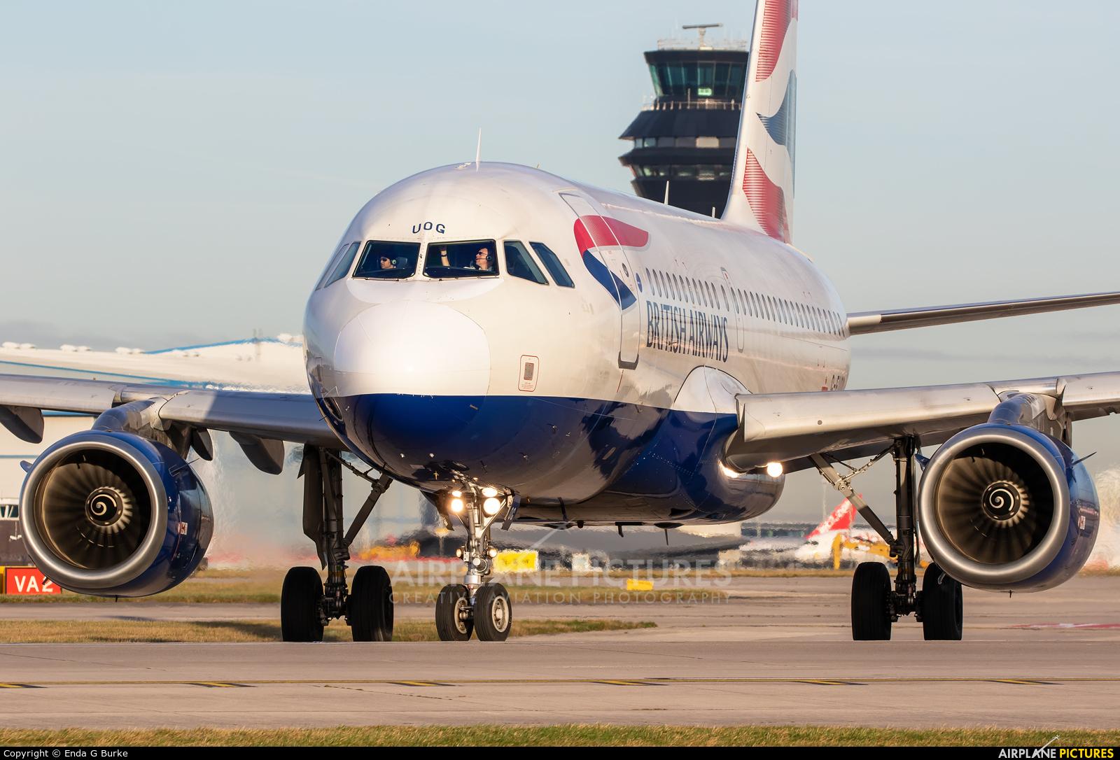 British Airways G-EUOG aircraft at Manchester