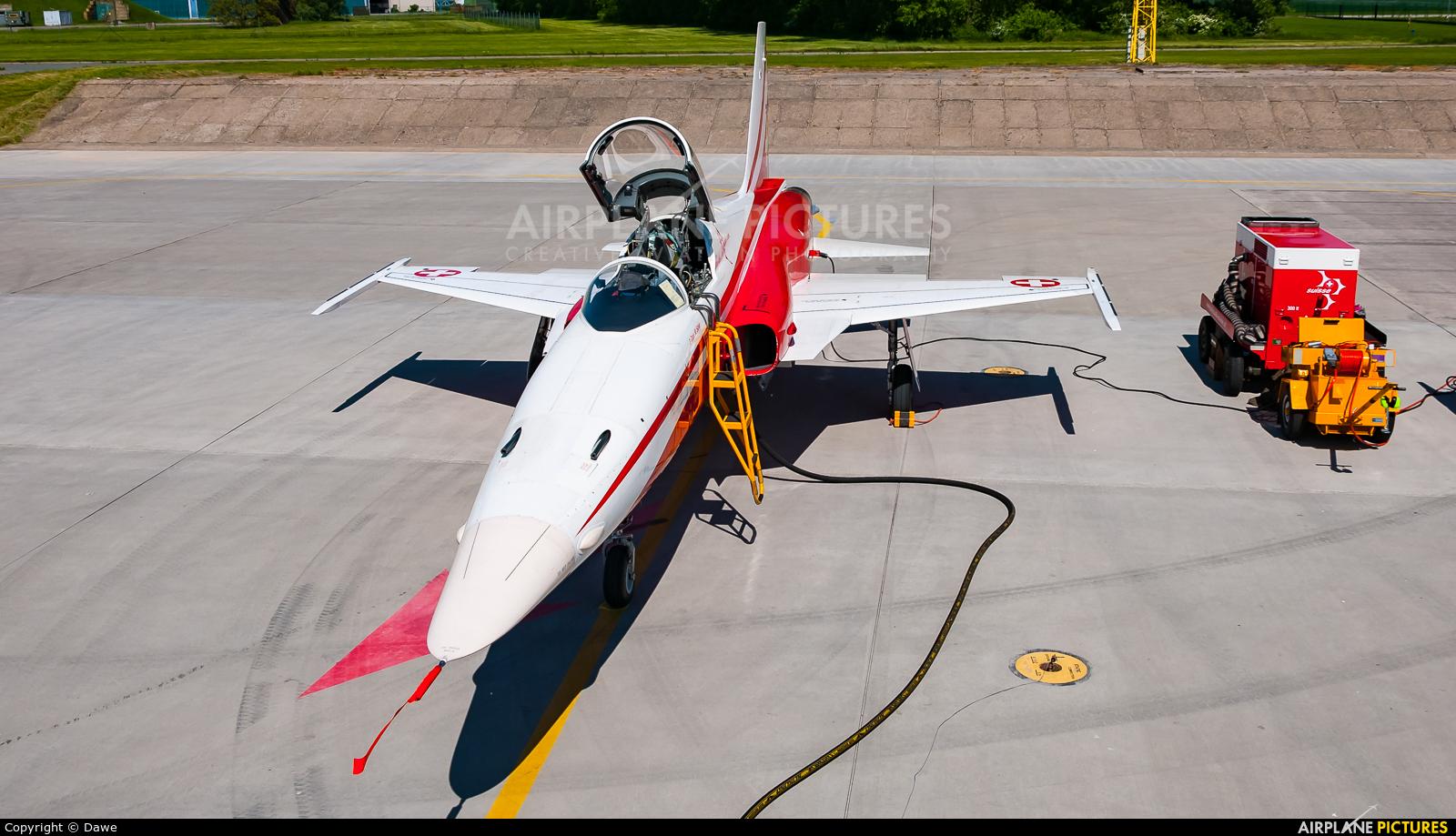 Switzerland - Air Force:  Patrouille de Suisse J-3081 aircraft at Čáslav