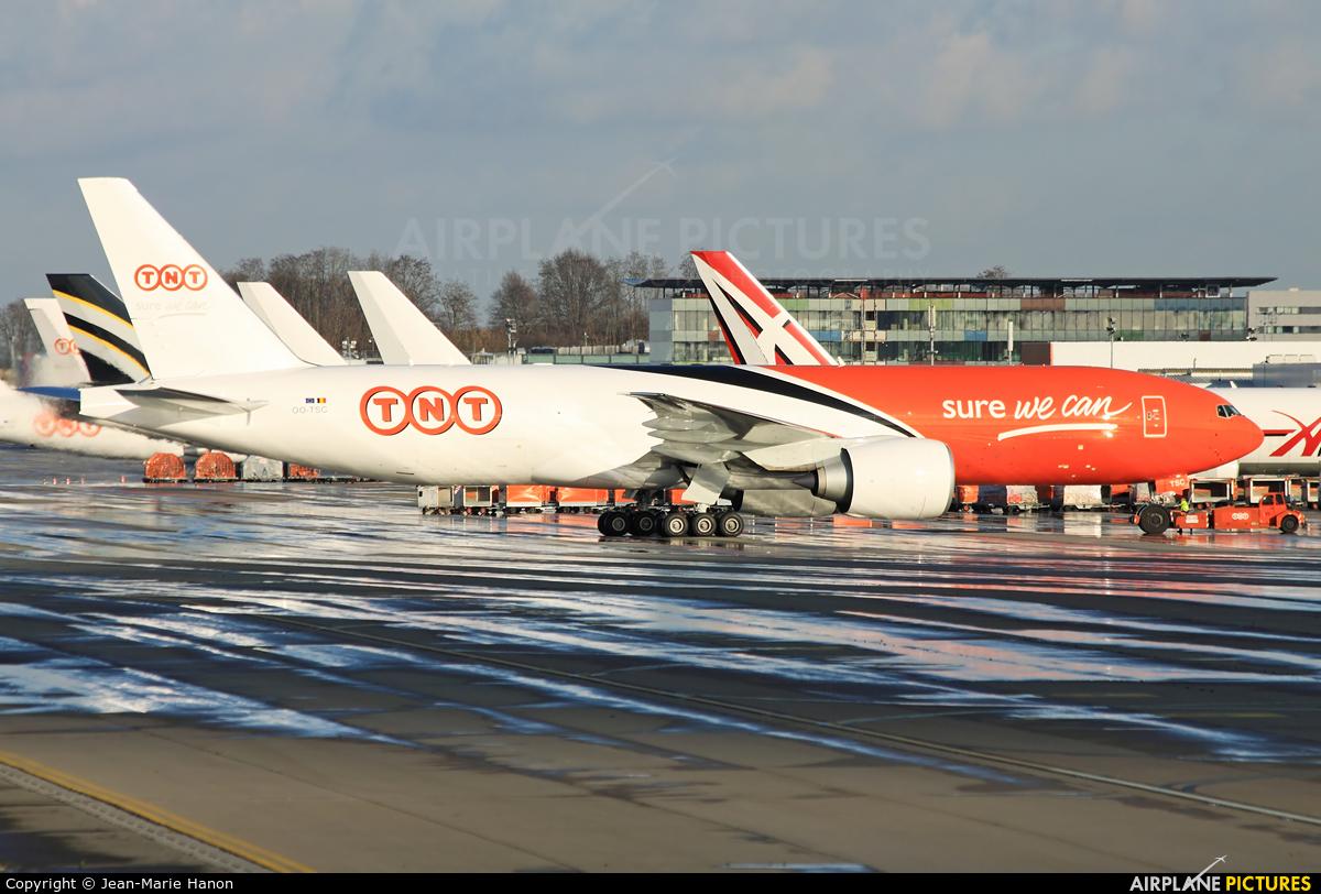 TNT OO-TSC aircraft at Liège-Bierset