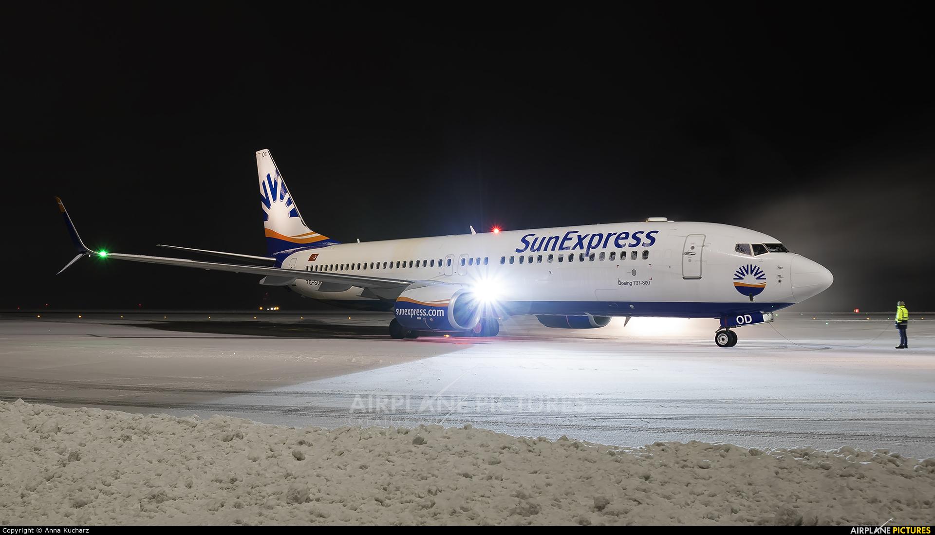 SunExpress TC-SOD aircraft at Katowice - Pyrzowice