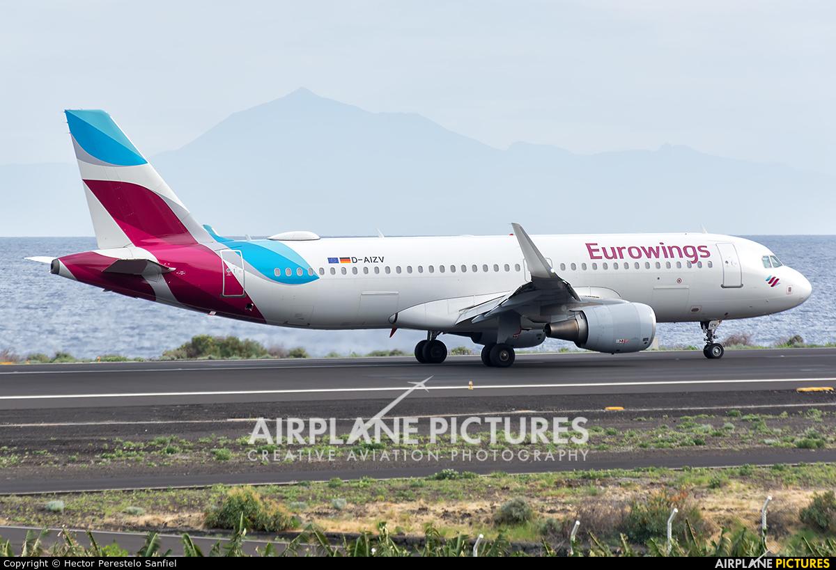 Eurowings D-AIZV aircraft at Santa Cruz de La Palma