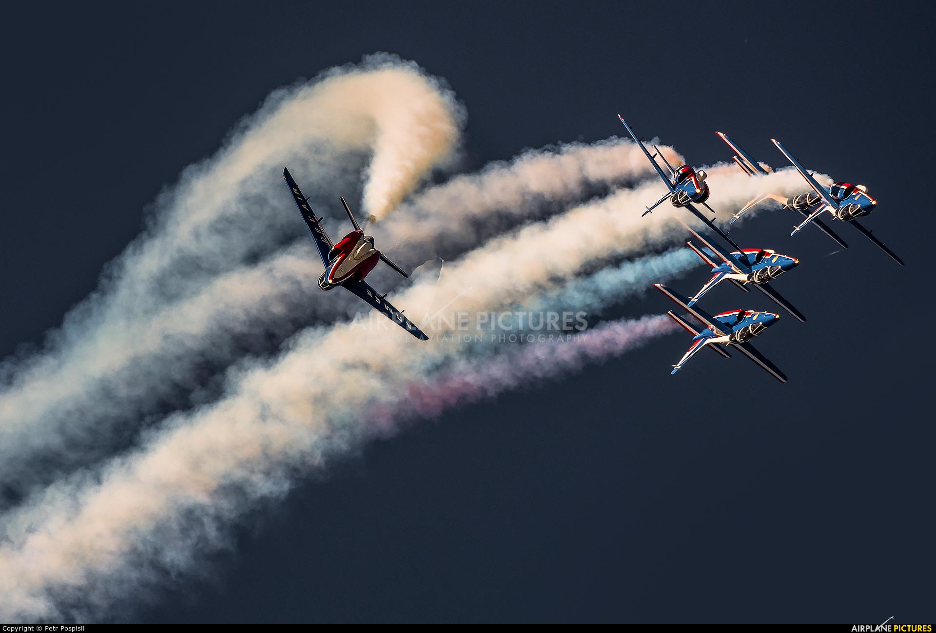 "France - Air Force ""Patrouille de France"" E85 aircraft at Ostrava Mošnov"