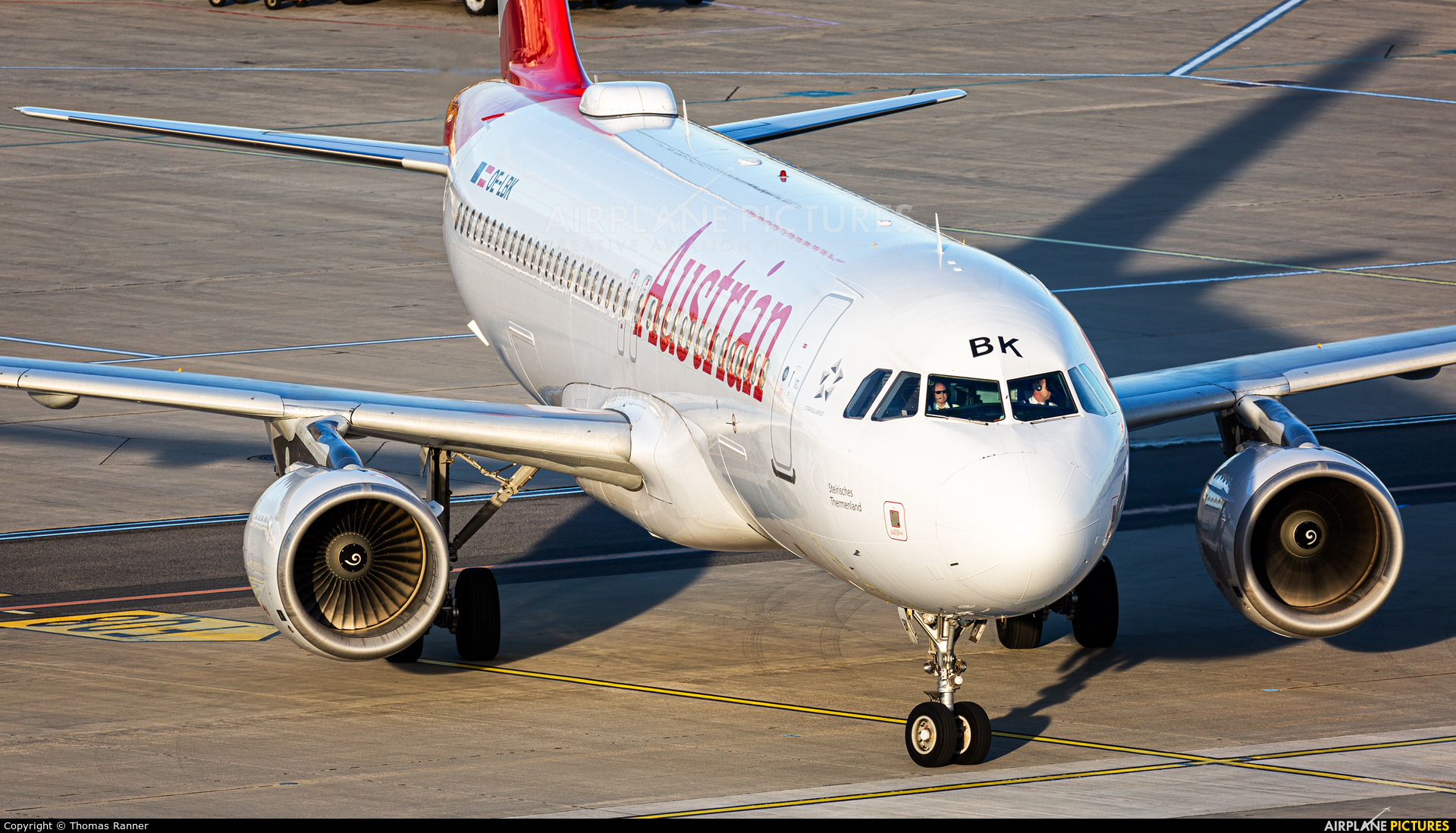 Austrian Airlines/Arrows/Tyrolean OE-LBK aircraft at Vienna - Schwechat