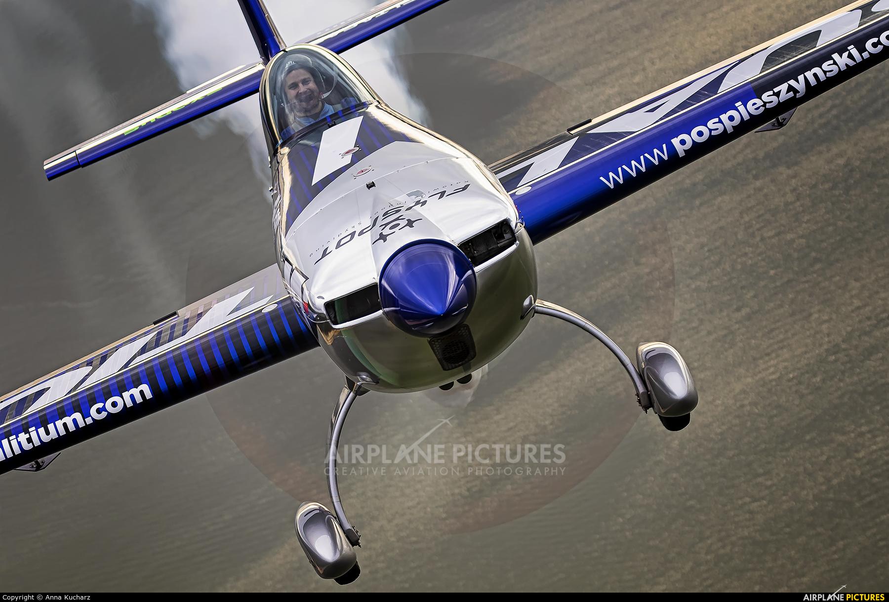 Maciej Pospieszyński - Aerobatics SP-YOO aircraft at Piotrków Trybunalski