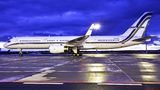 Gainjet B757 arrived to Prague with English football team