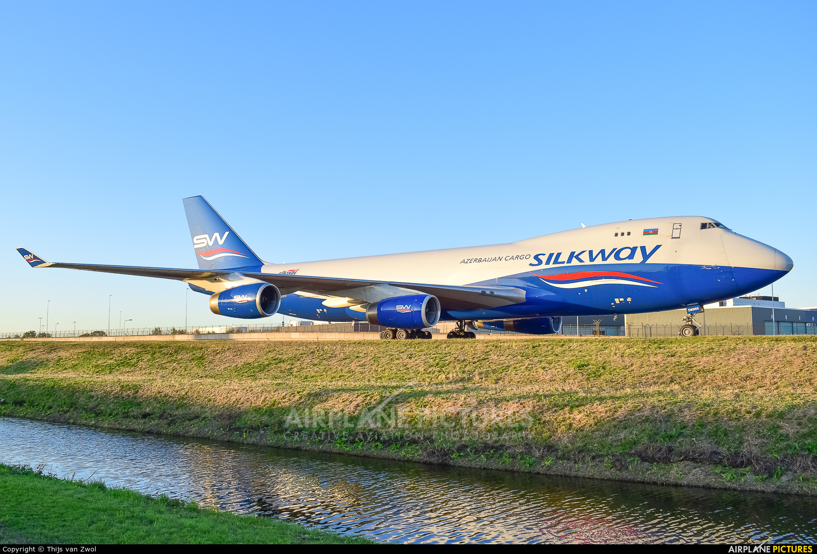 Silk Way Airlines 4K-SW888 aircraft at Amsterdam - Schiphol