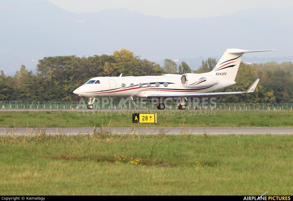 Private N243PC aircraft at Bergamo - Orio al Serio