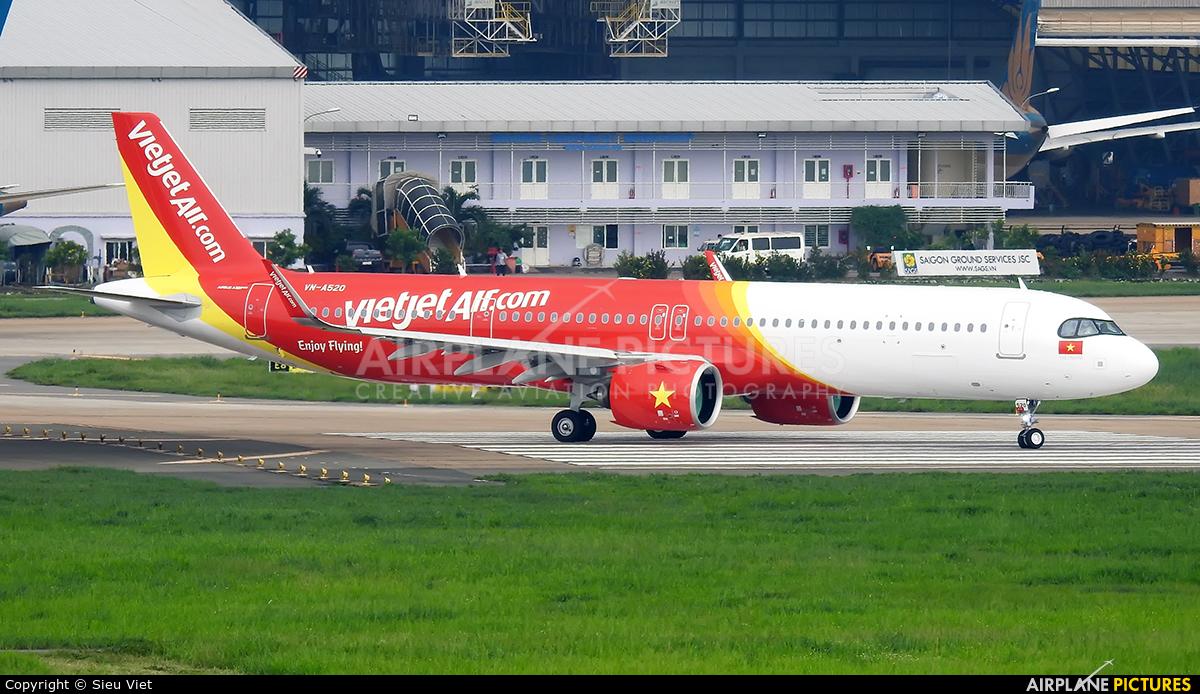 VietJet Air VN-A520 aircraft at Ho Chi Minh City - Tan Son Nhat Intl