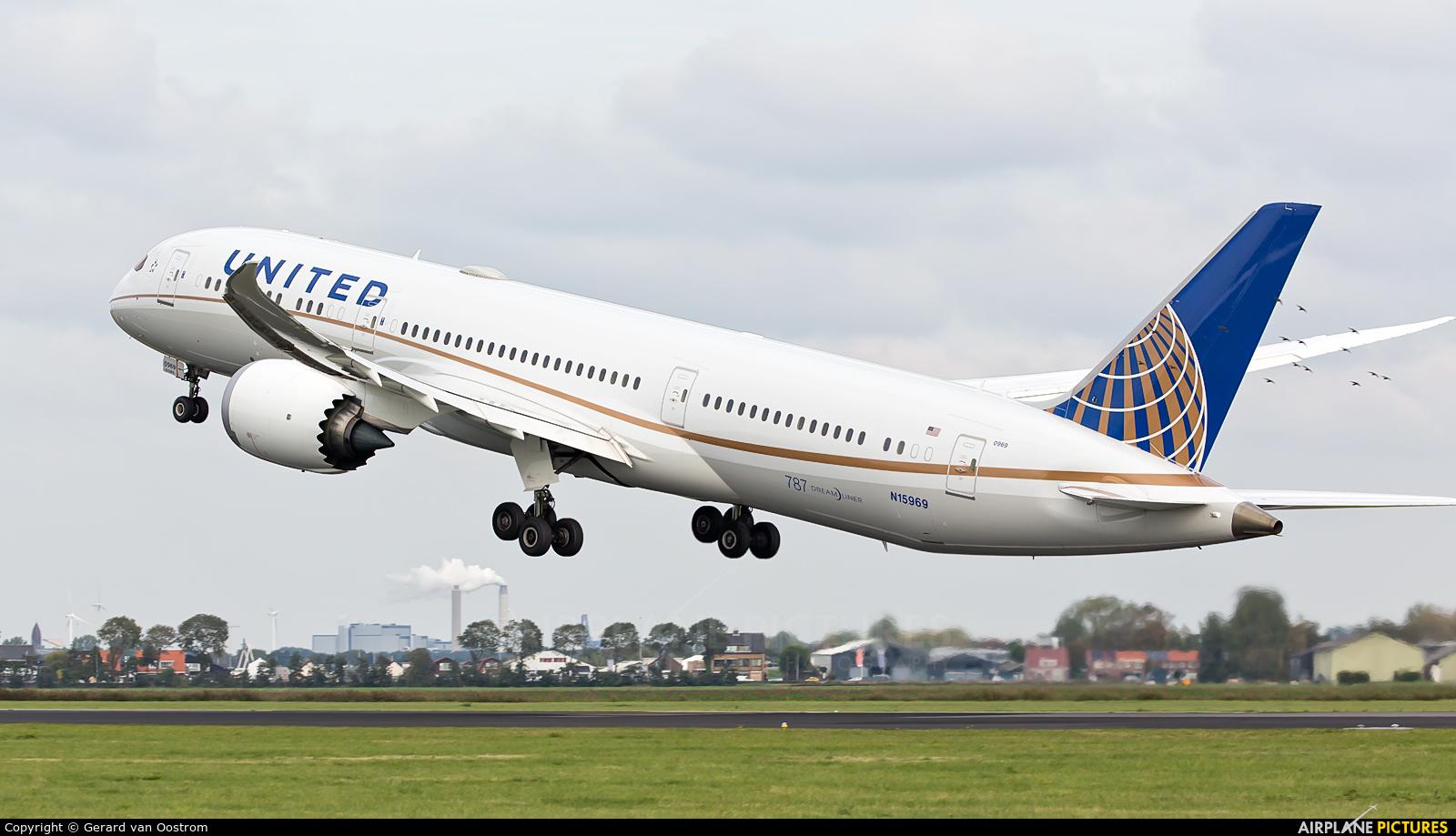 United Airlines N15969 aircraft at Amsterdam - Schiphol