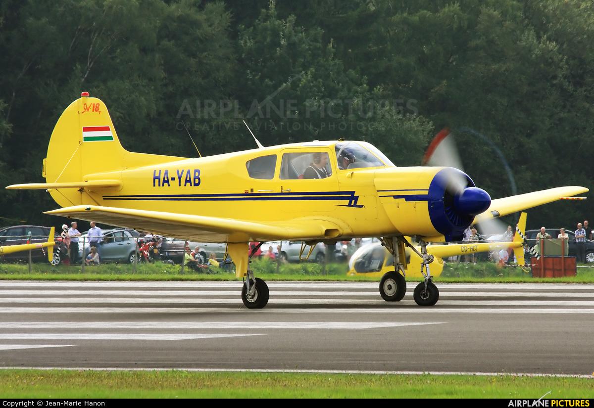 Private HA-YAB aircraft at Spa - La Sauveniere
