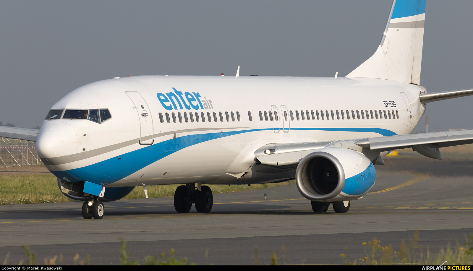 Enter Air SP-ENG aircraft at Warsaw - Frederic Chopin