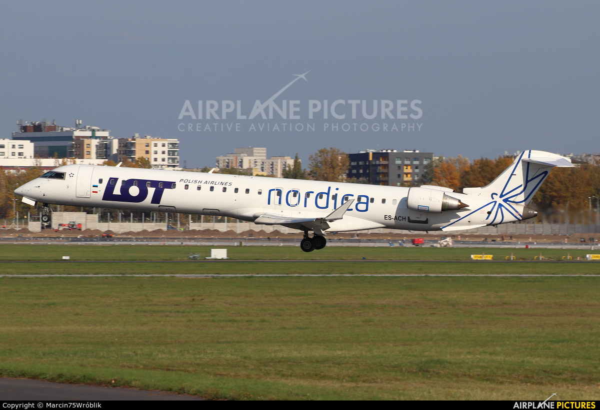 Nordica ES-ACH aircraft at Warsaw - Frederic Chopin