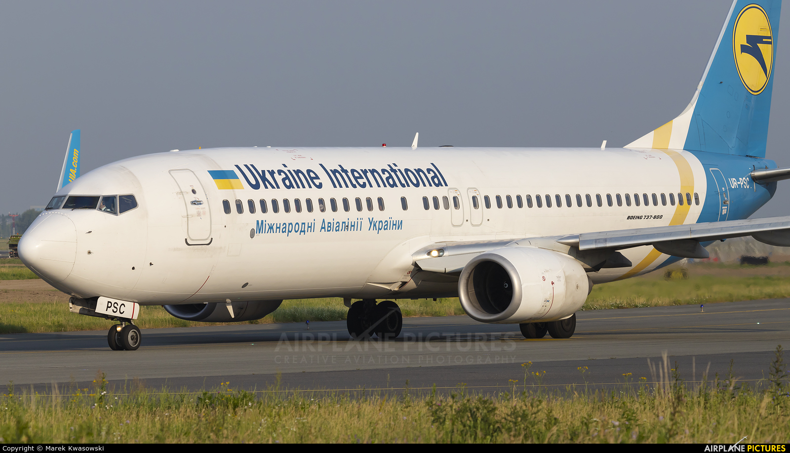 Ukraine International Airlines UR-PSC aircraft at Warsaw - Frederic Chopin