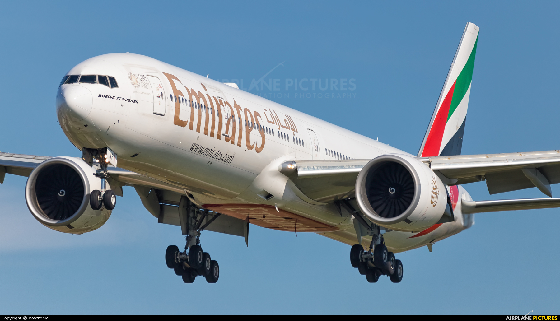 Emirates Airlines A6-ENF aircraft at Zagreb