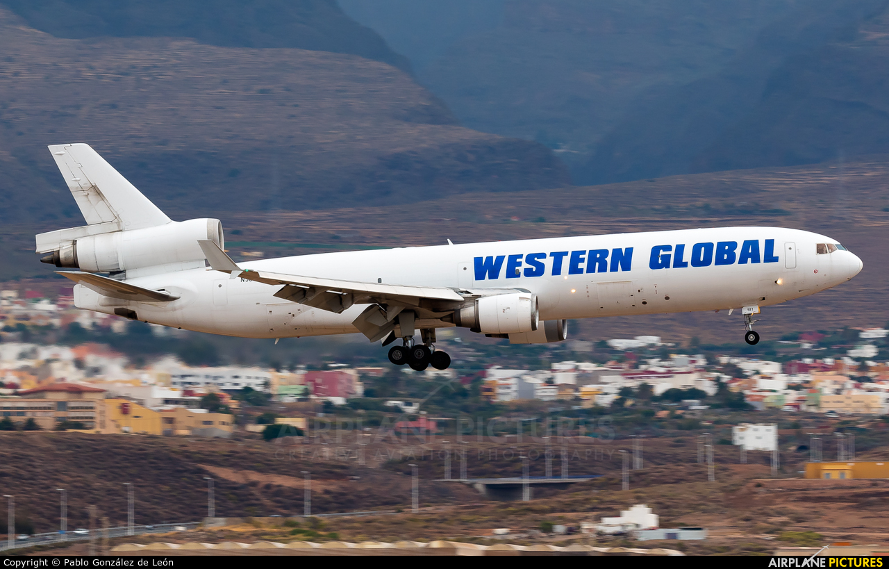 Western Global Airlines N581JN aircraft at Aeropuerto de Gran Canaria