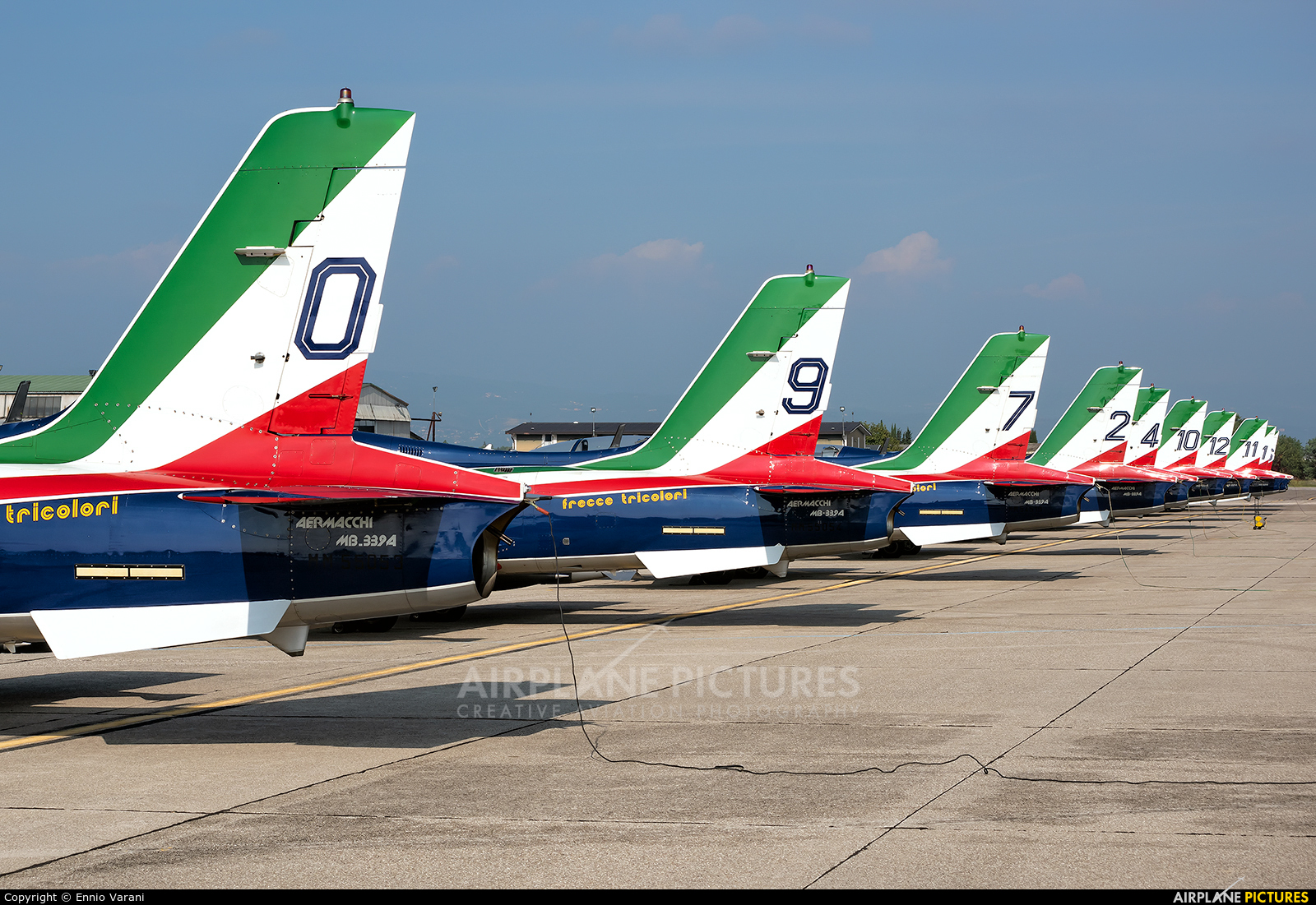 "Italy - Air Force ""Frecce Tricolori"" MM55054 aircraft at Verona - Villafranca"