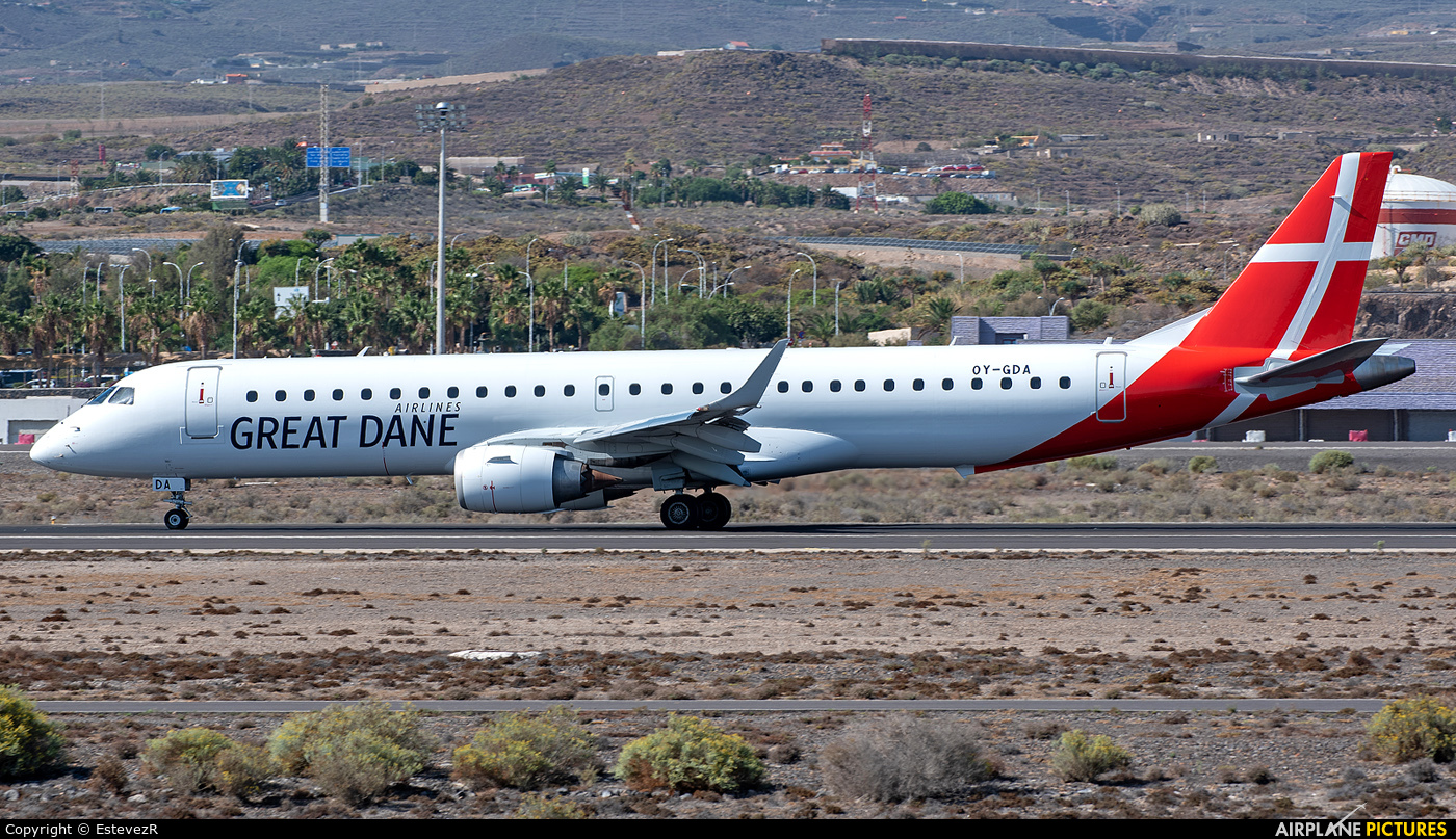 Great Dane Airlines OY-GDA aircraft at Tenerife Sur - Reina Sofia