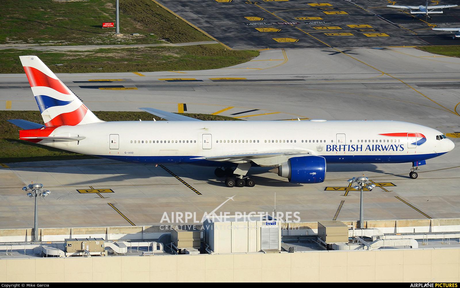 British Airways G-VIIO aircraft at Cancun Intl