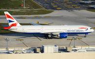 G-VIIO - British Airways Boeing 777-200 aircraft