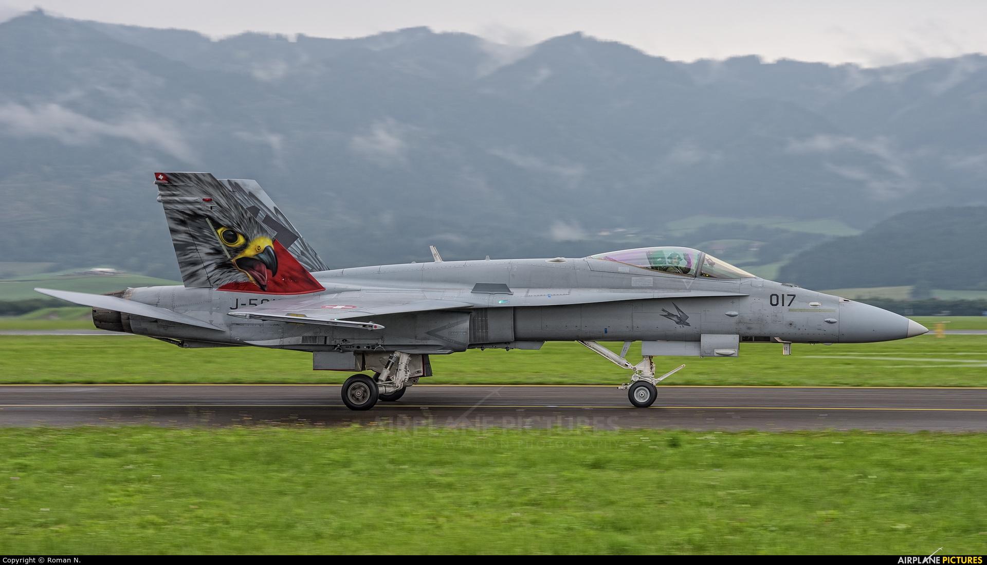 Switzerland - Air Force J-5017 aircraft at Zeltweg