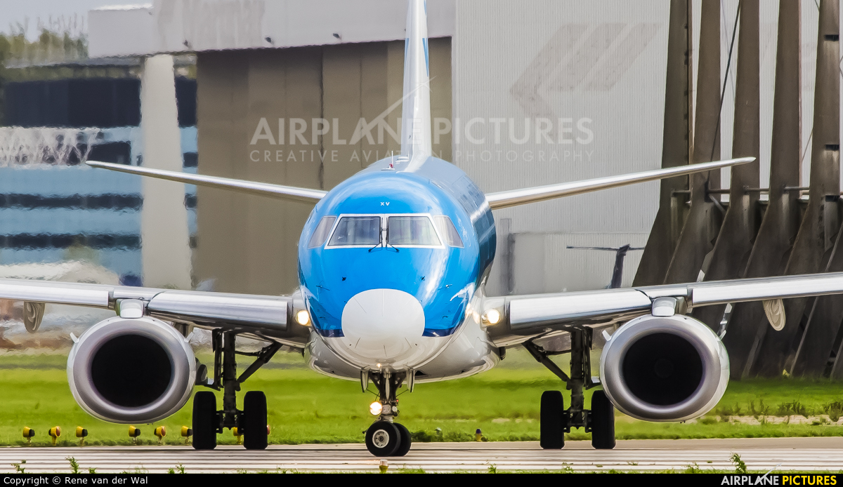 KLM Cityhopper PH-EXV aircraft at Amsterdam - Schiphol