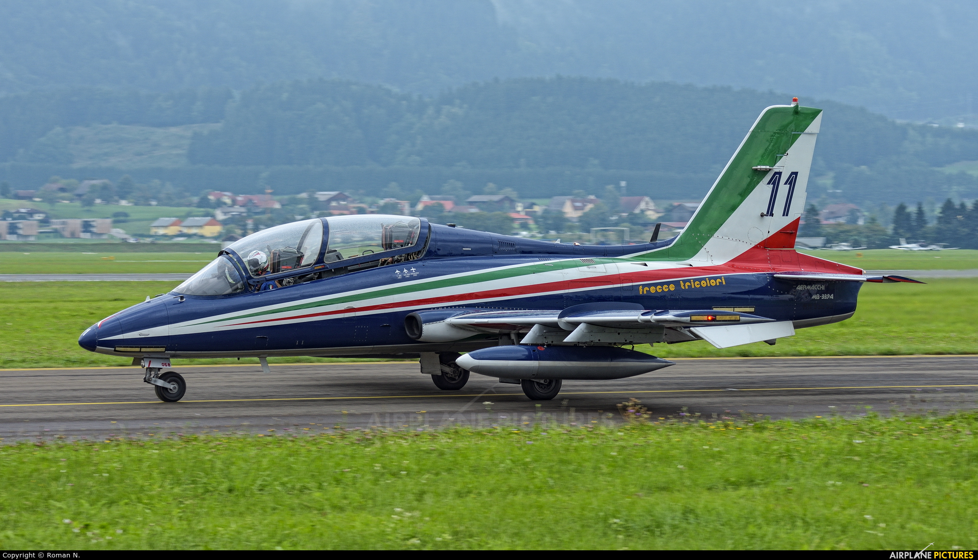 """Italy - Air Force """"Frecce Tricolori"""" MM55058 aircraft at Zeltweg"""