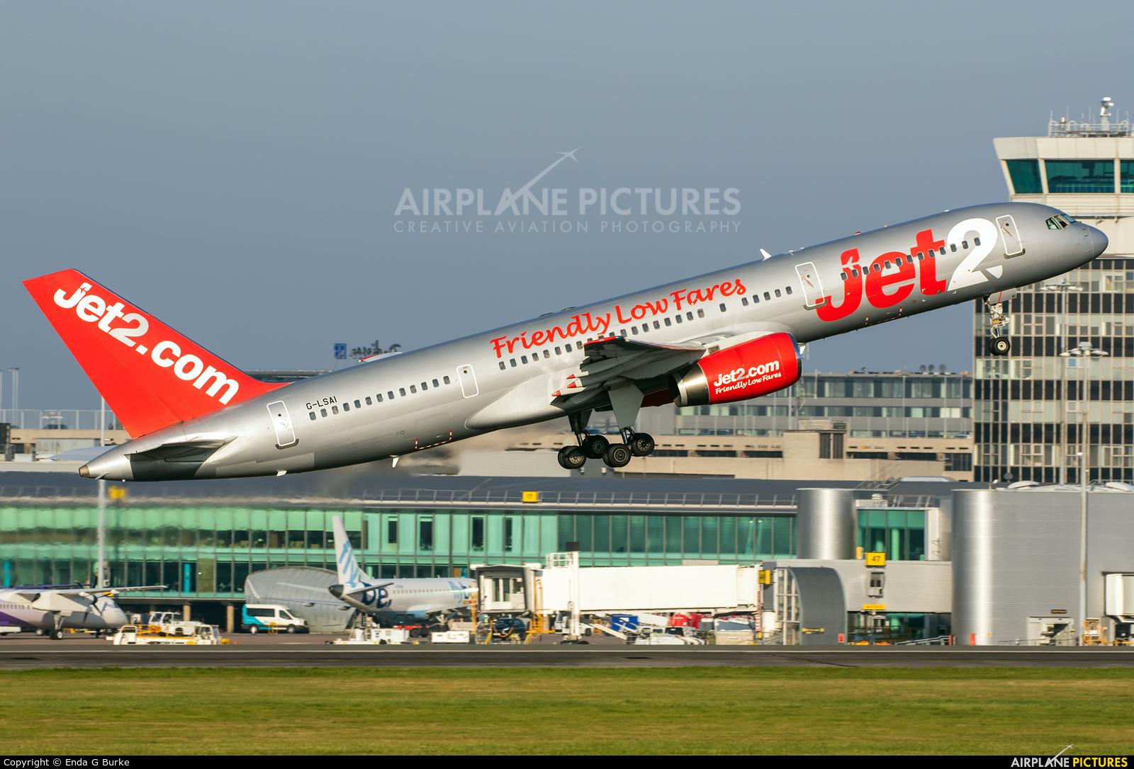 Jet2 G-LSAI aircraft at Manchester
