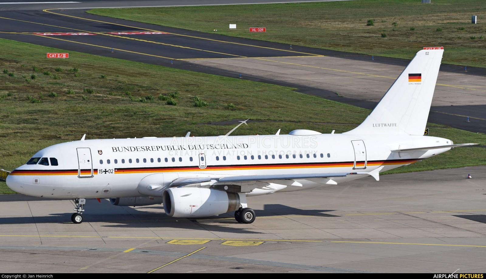 Germany - Air Force 15+02 aircraft at Cologne Bonn - Konrad Adenauer