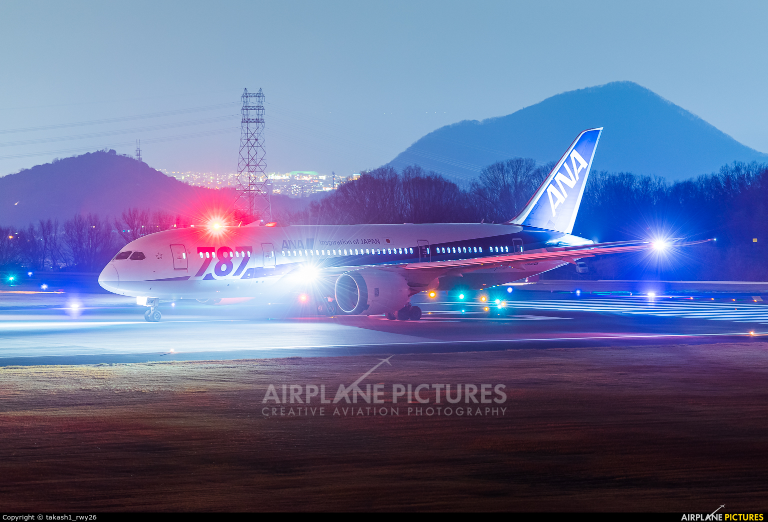 ANA - All Nippon Airways JA818A aircraft at Takamatsu