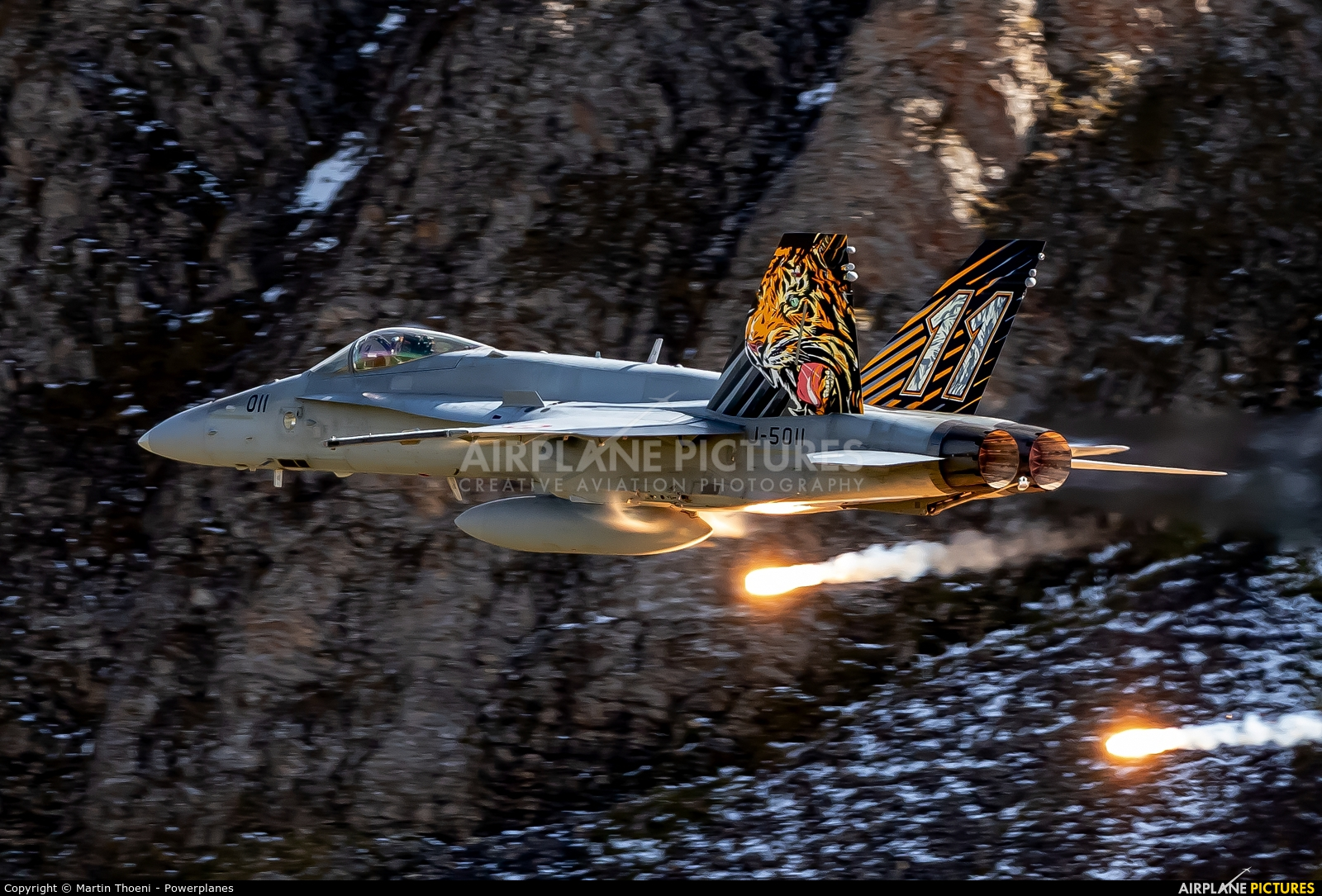 Switzerland - Air Force J-5011 aircraft at Axalp - Ebenfluh Range