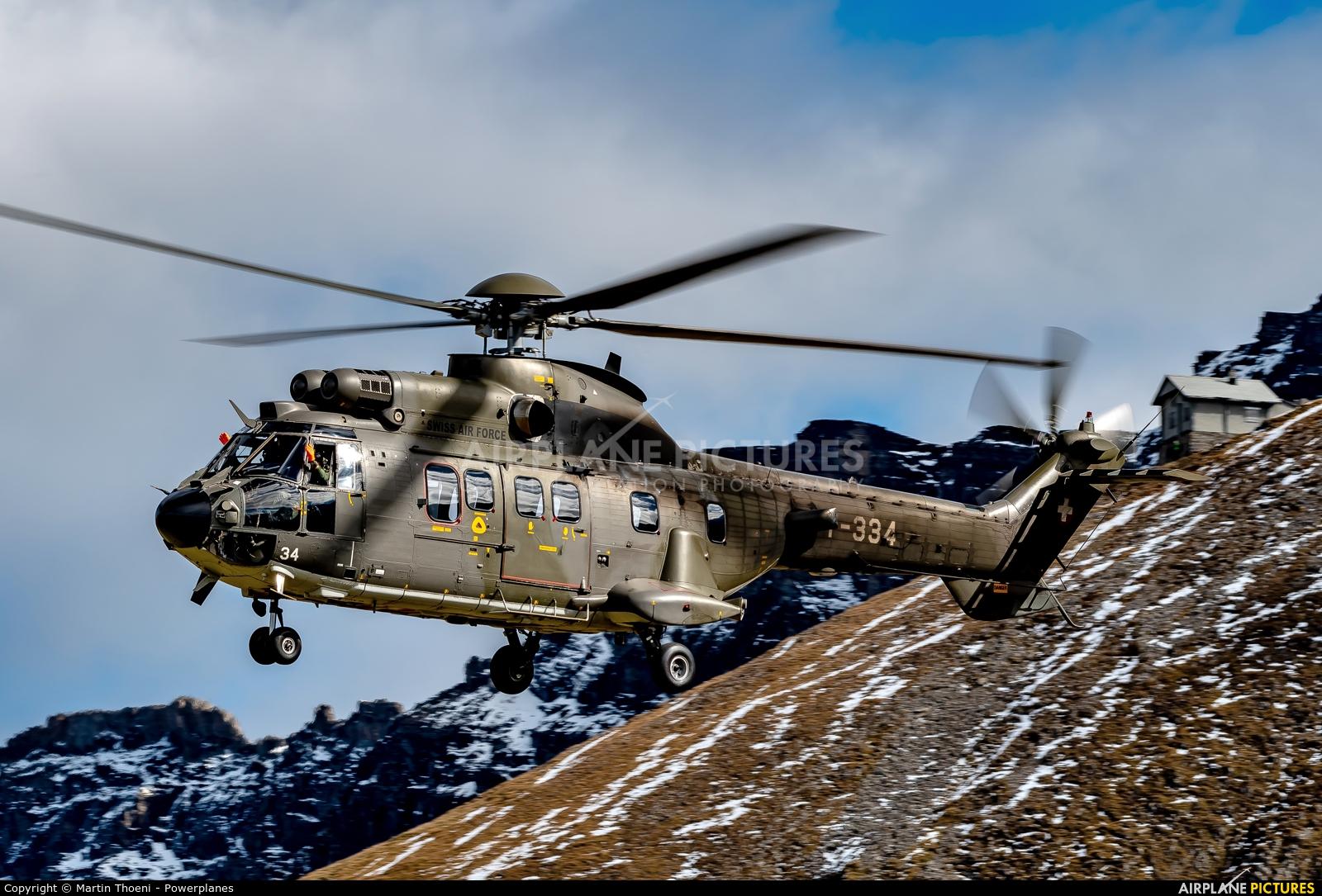 Switzerland - Air Force T-334 aircraft at Axalp - Ebenfluh Range