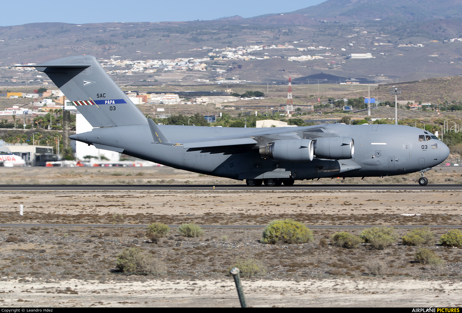 Heavy Airlift Wing (HAW) 08-0003 aircraft at Tenerife Sur - Reina Sofia