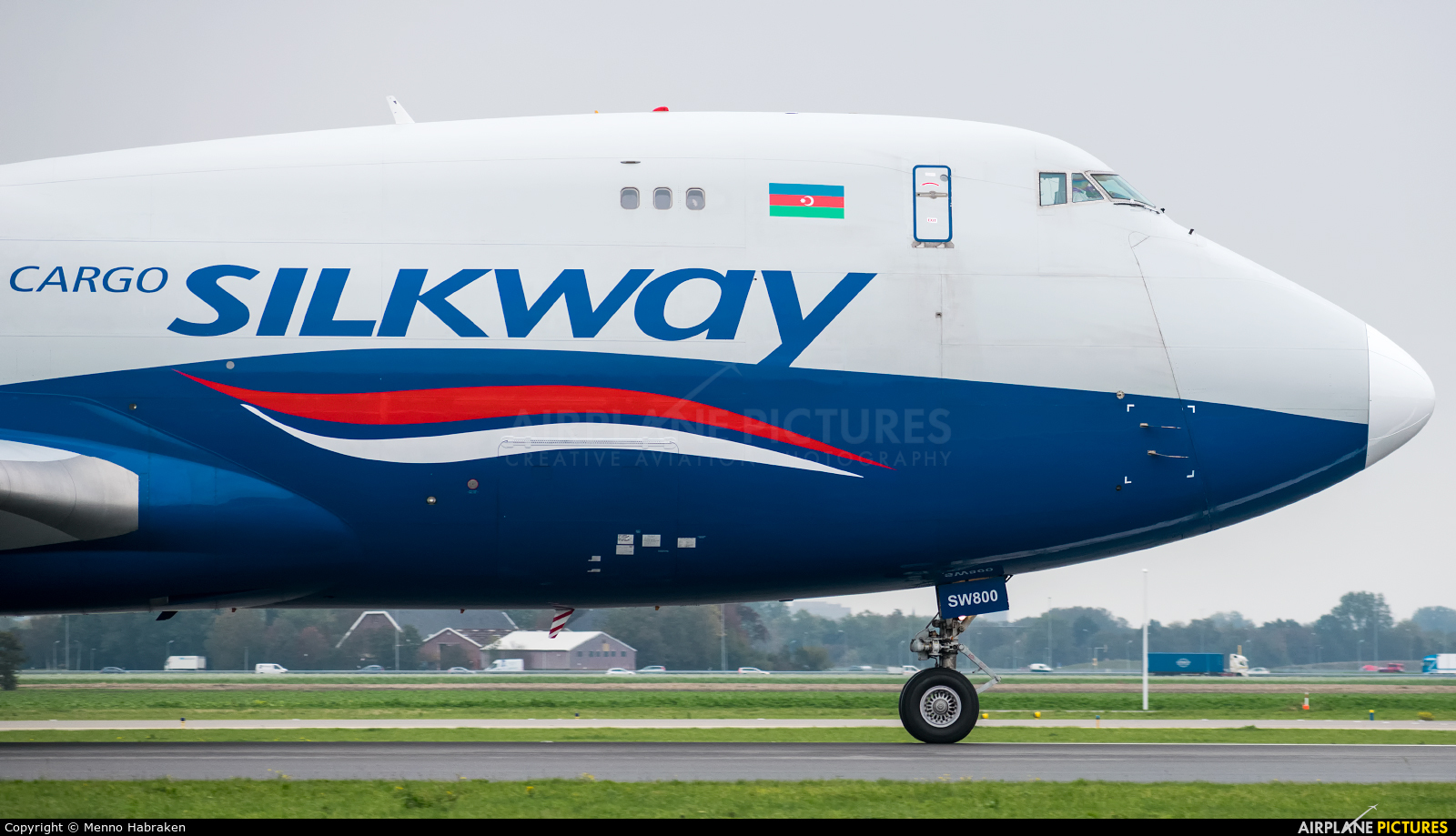 Silk Way Airlines 4K-SW800 aircraft at Amsterdam - Schiphol