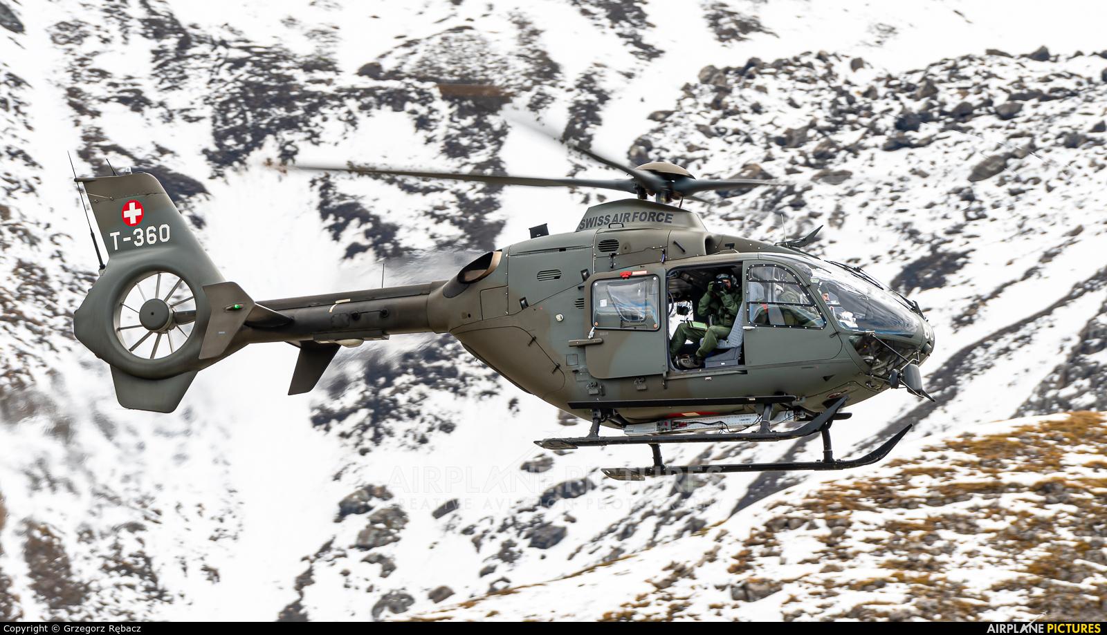 Switzerland - Air Force T-360 aircraft at Axalp - Ebenfluh Range