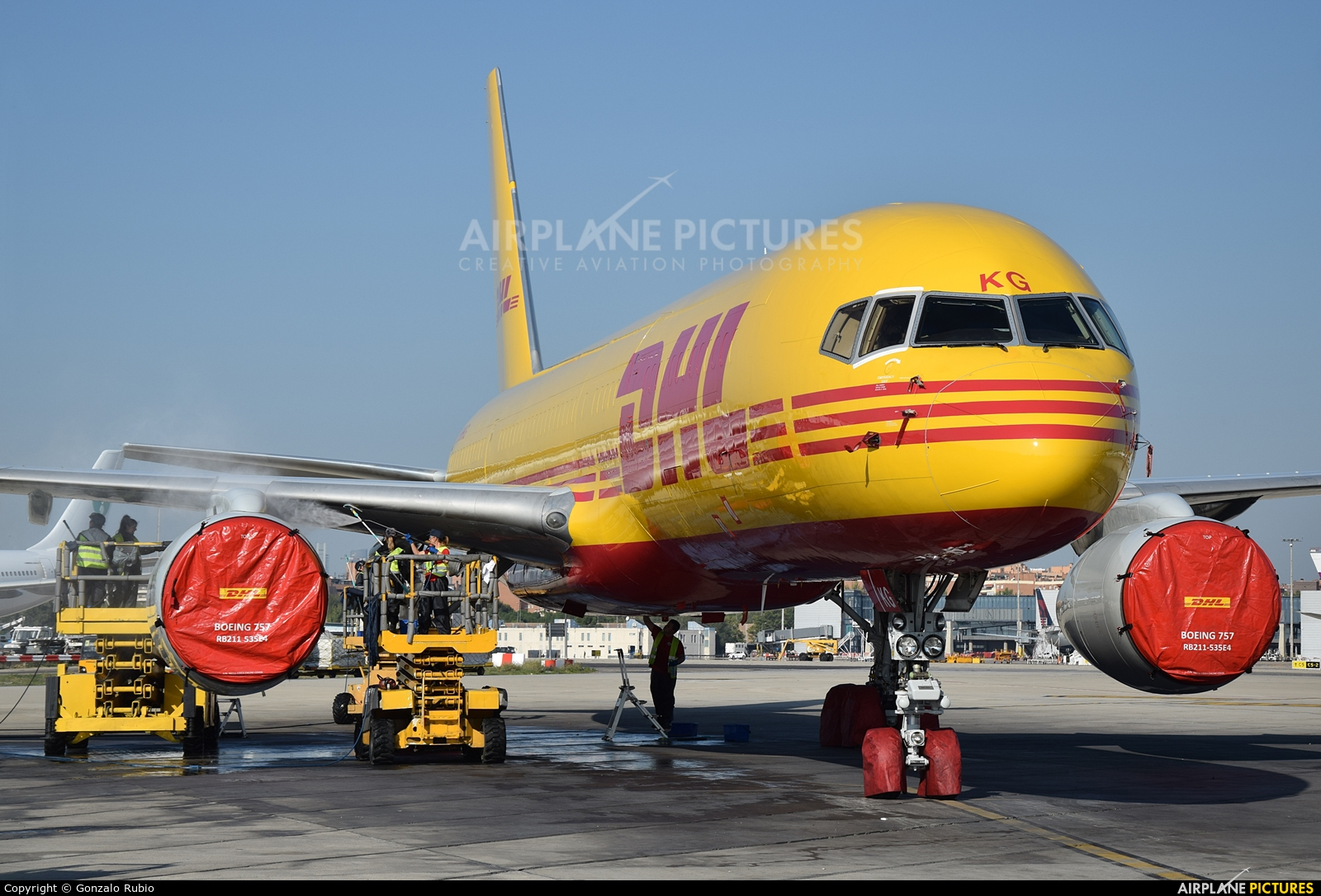 DHL Cargo G-DHKG aircraft at Madrid - Barajas