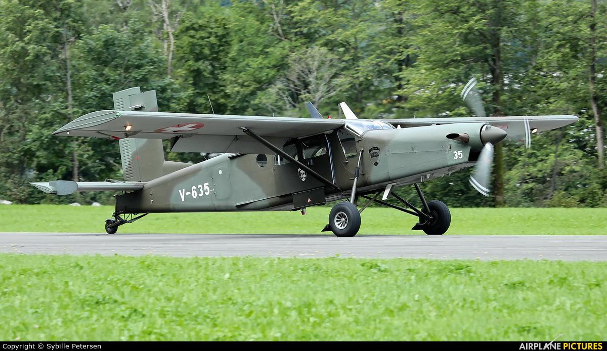 Switzerland - Air Force V-635 aircraft at Mollis
