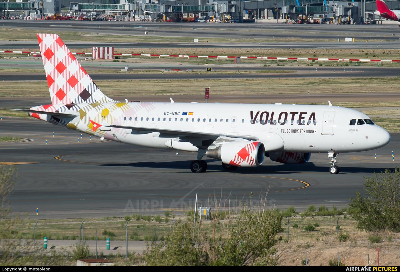 Volotea Airlines EC-NBC aircraft at Madrid - Barajas