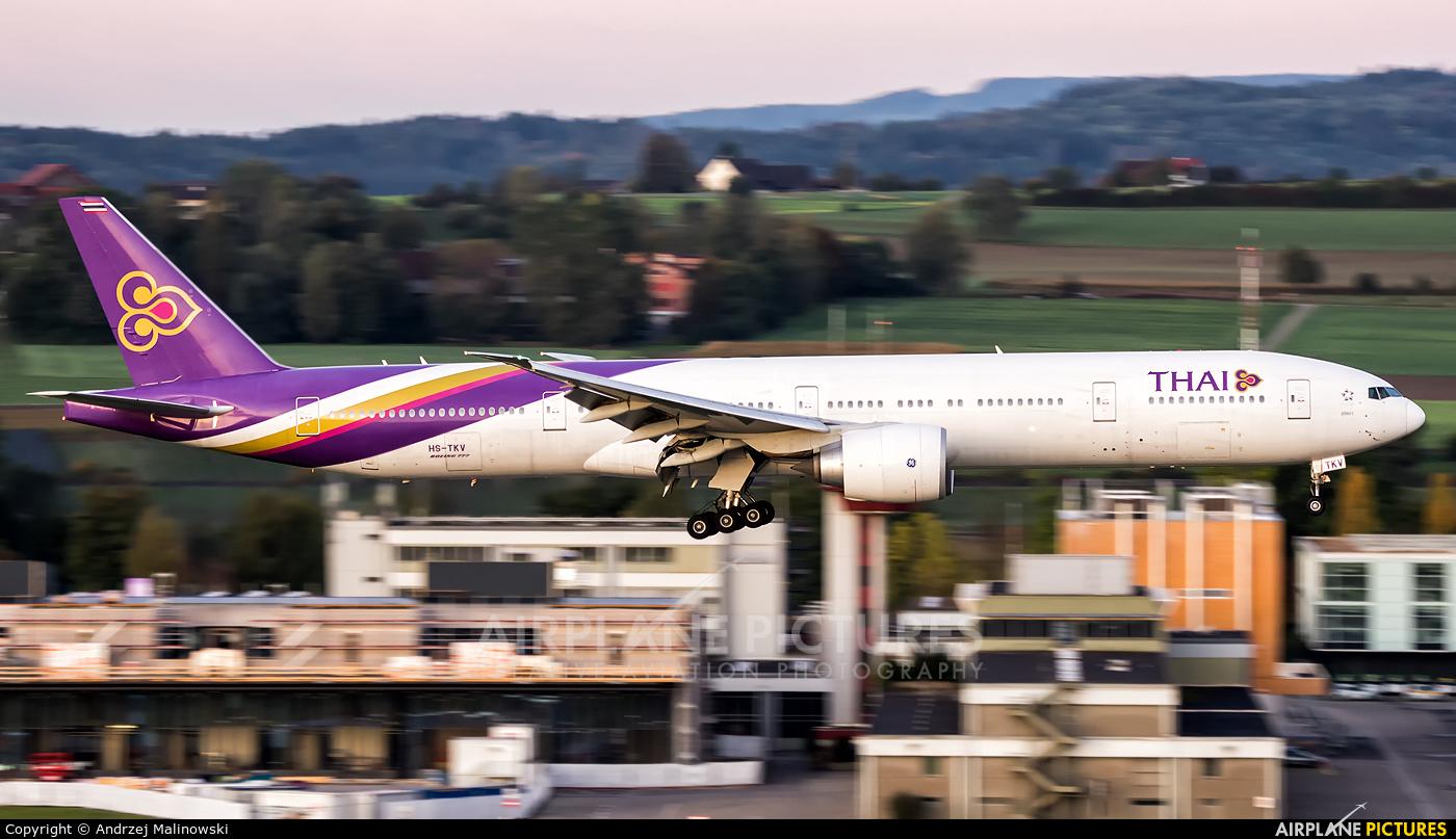 Thai Airways HS-TKV aircraft at Zurich