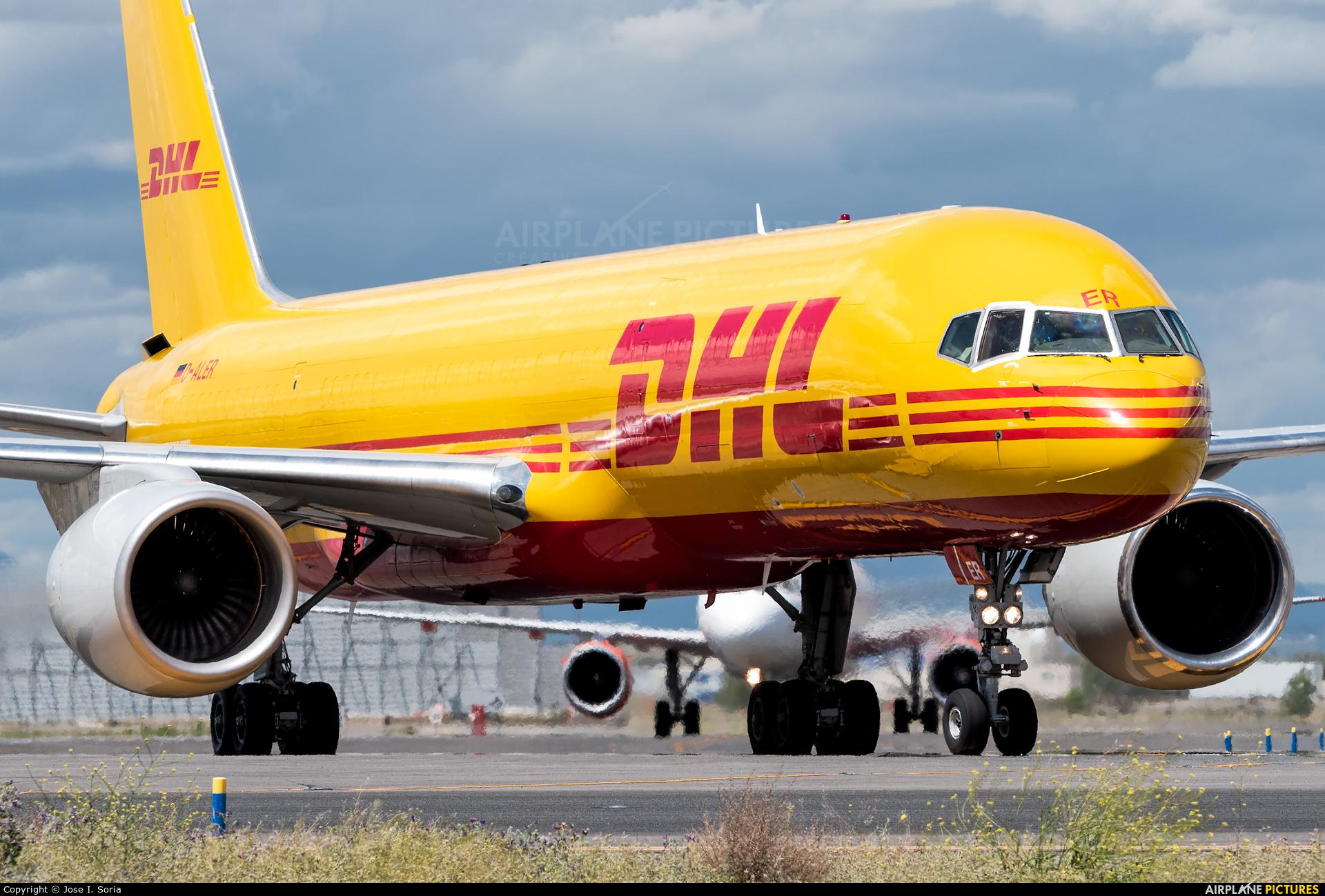 DHL Cargo D-ALER aircraft at Madrid - Barajas