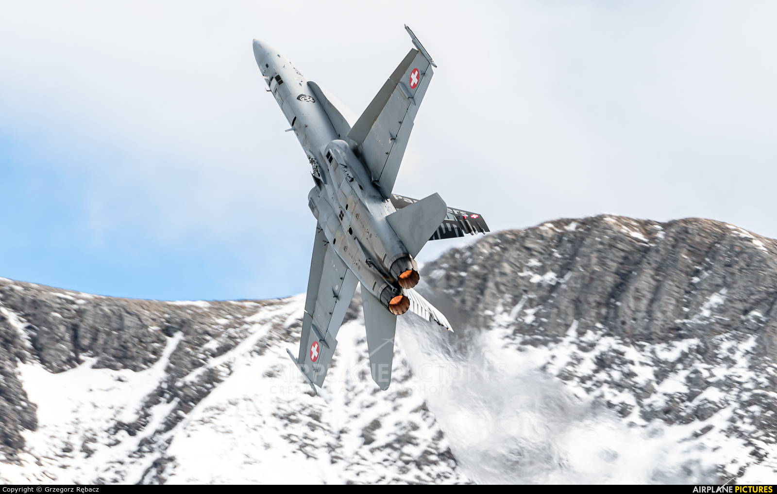 Switzerland - Air Force J-5018 aircraft at Axalp - Ebenfluh Range