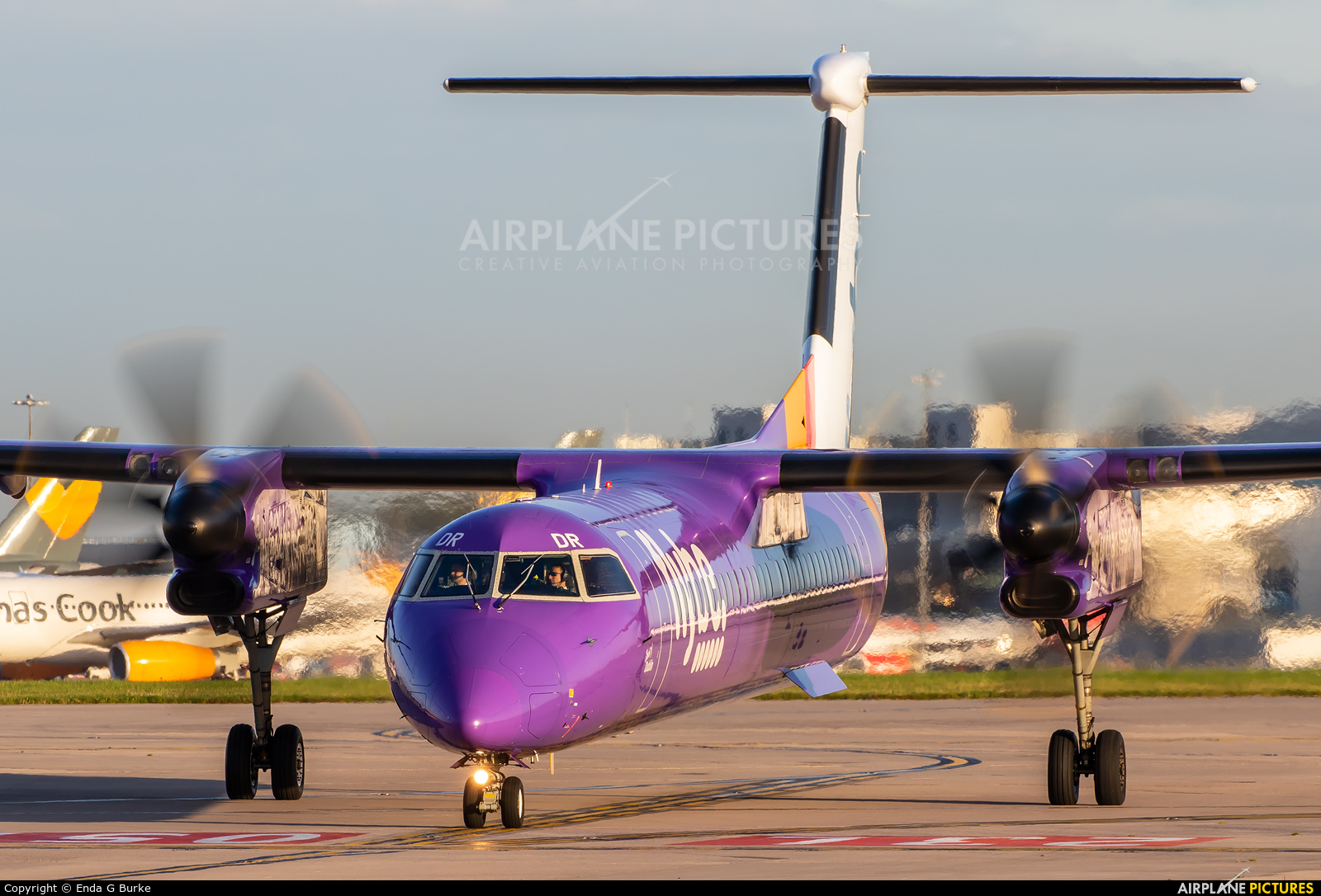 Flybe G-JEDR aircraft at Manchester