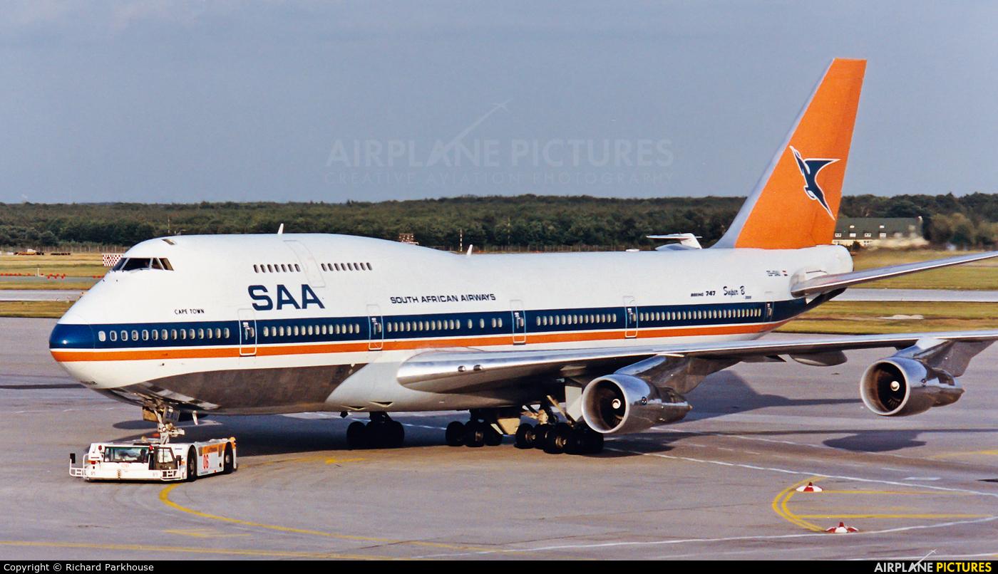 South African Airways ZS-SAU aircraft at Frankfurt