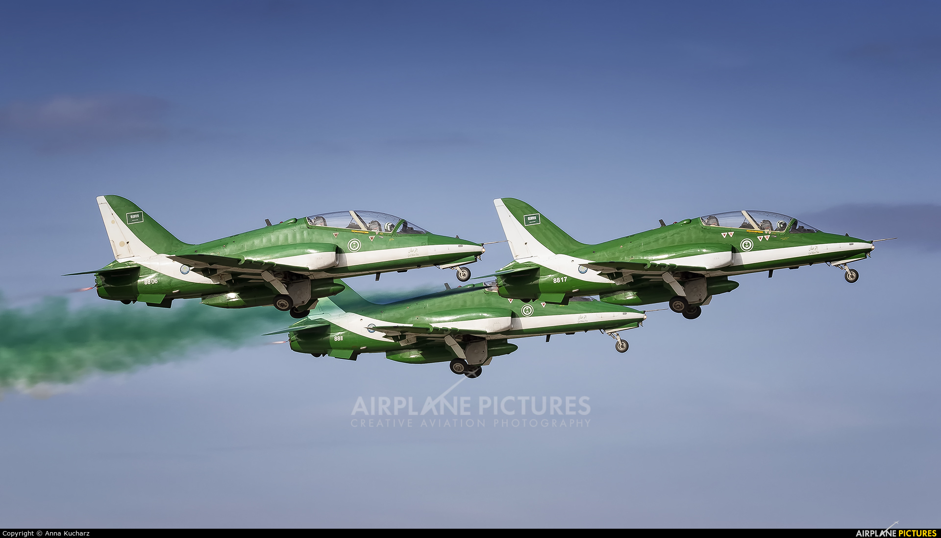 Saudi Arabia - Air Force: Saudi Hawks 8806 aircraft at Gdynia- Babie Doły (Oksywie)
